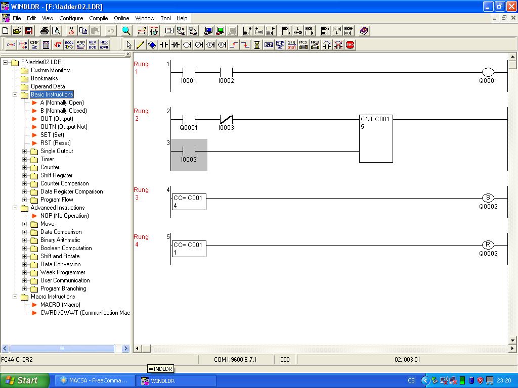 Test Mal Plc Idec Microsmart Automatizace
