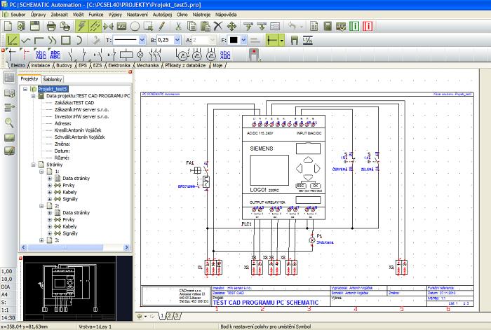 Pc Schematic Automation Elektrocad Pro Narocnejsi Uzivatele